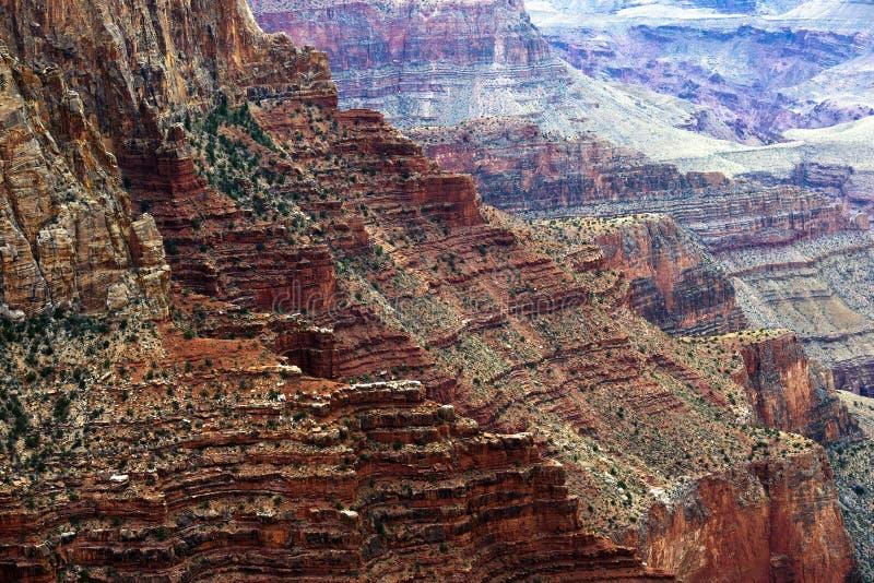 Bolo mergulhado da pedra de Grand Canyon imagem de stock