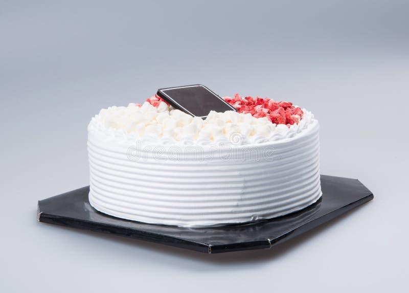 bolo ou bolo de aniversário em um fundo fotografia de stock