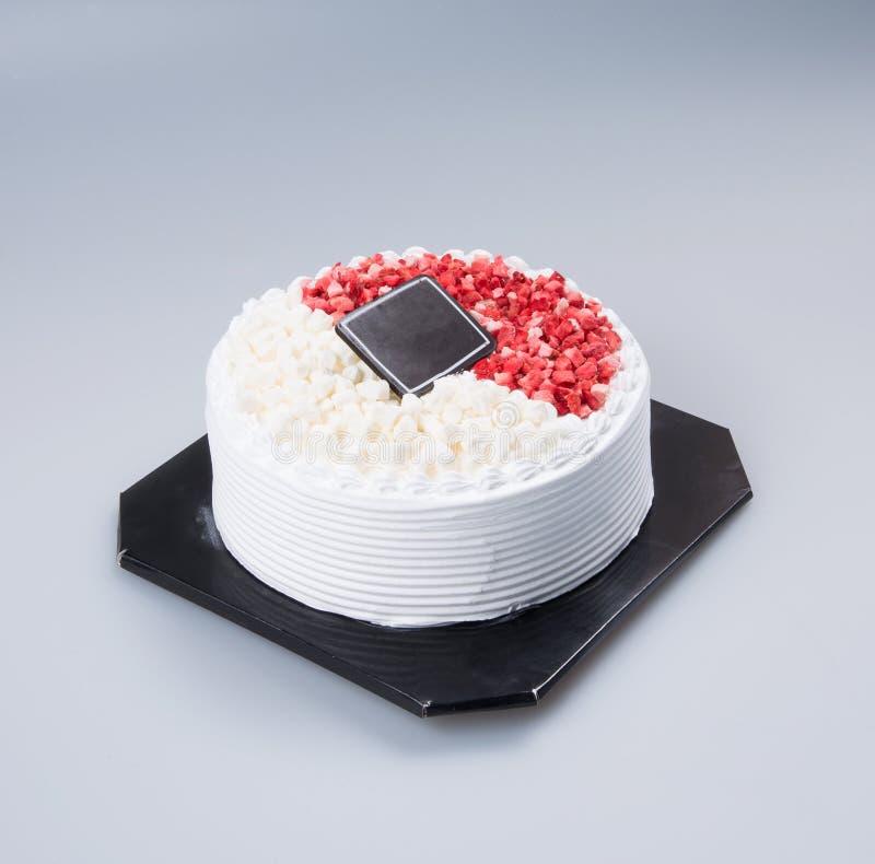 bolo ou bolo de aniversário em um fundo foto de stock