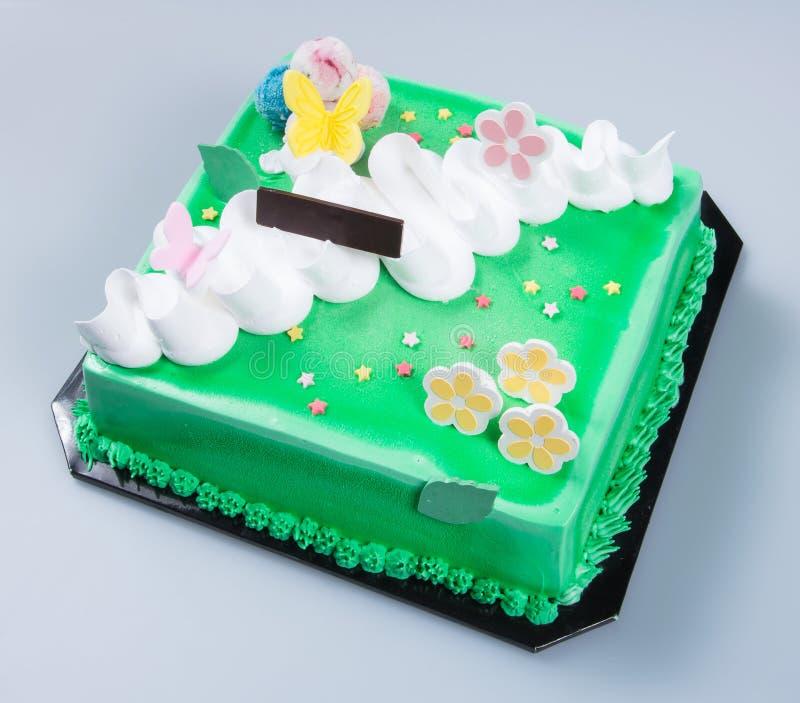 bolo ou bolo de aniversário em um fundo imagem de stock royalty free