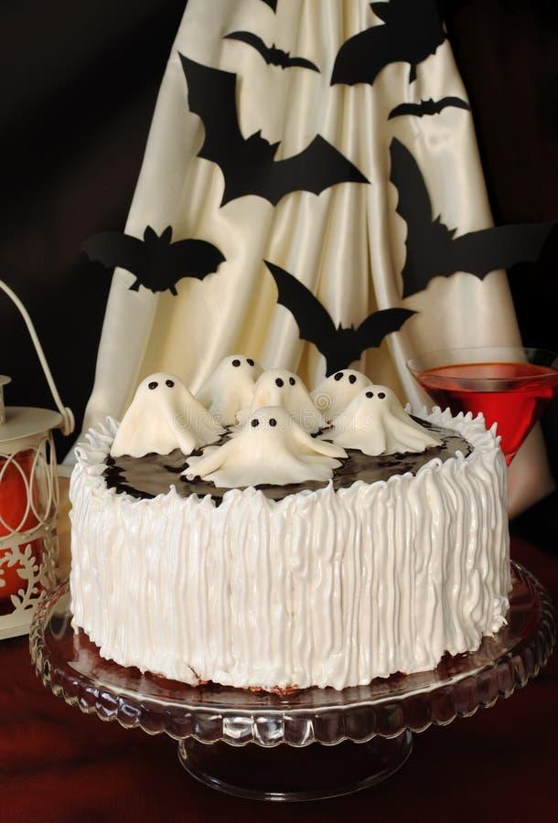 Bolo para Halloween fotos de stock