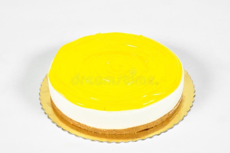 Bolo saboroso do limão imagem de stock
