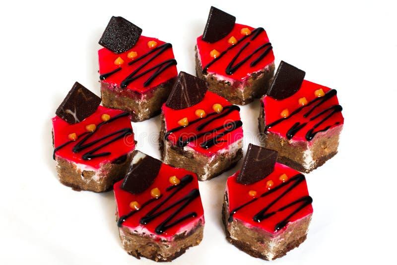 Bolo sete com microplaqueta de chocolate. imagem de stock royalty free