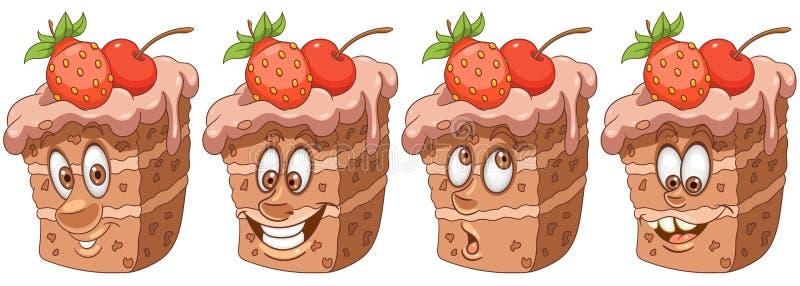 Bolo torta Conceito da padaria e da pastelaria ilustração stock