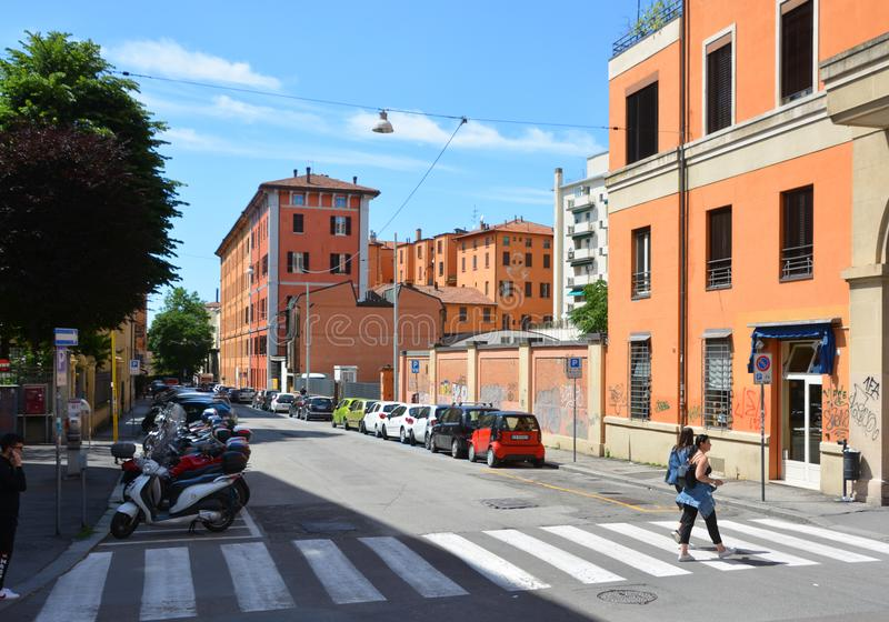 Bologna is the capital and largest city of the Emilia-Romagna region. BOLOGNA ITALY  05 28 2019: Bologna is the capital and largest city of the Emilia-Romagna stock photo