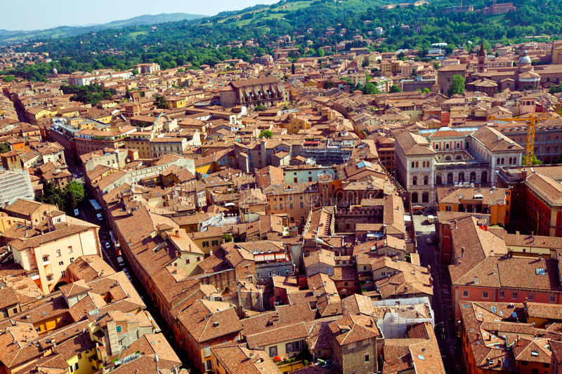 Bologna city view stock images