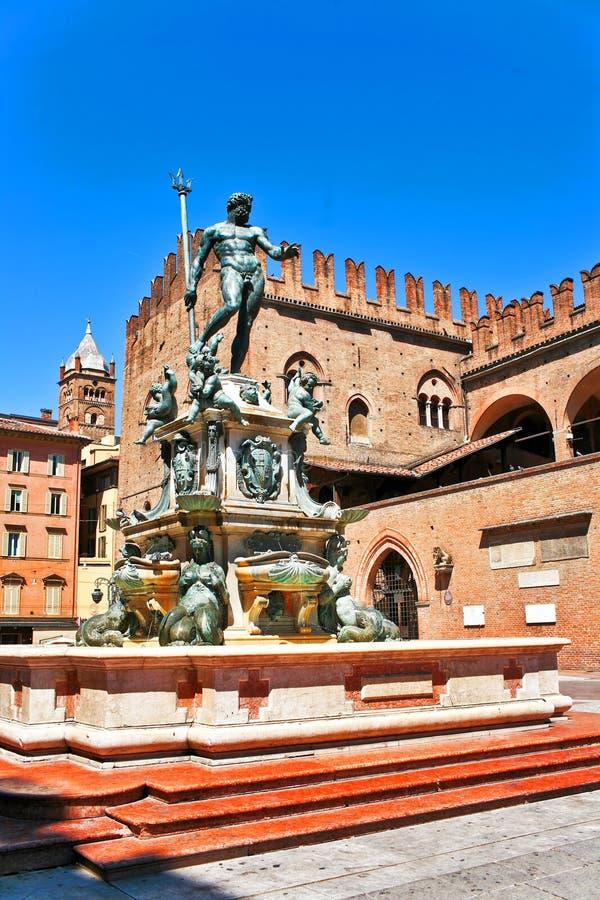 Bologna de l'Italie la fontaine image libre de droits