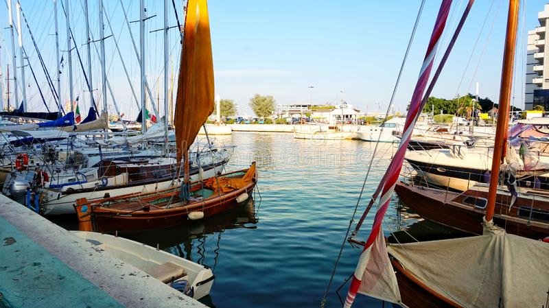 Bologna del porto di Riccione fotografia stock libera da diritti