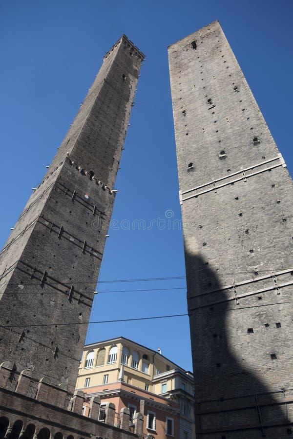 Bologna, die zwei Türme lizenzfreies stockbild