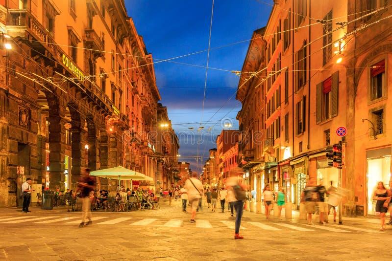 Bologna en photos de rue de l'Italie photo stock