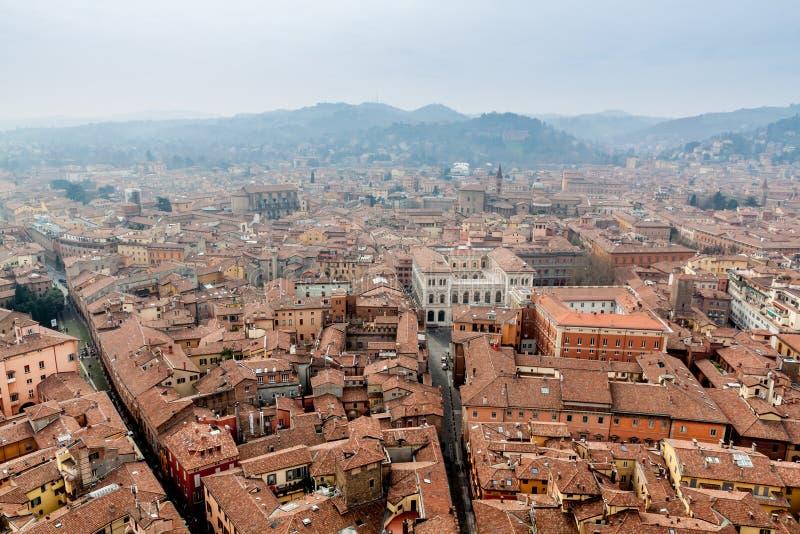 Bologna från det Asinelli tornet royaltyfri bild