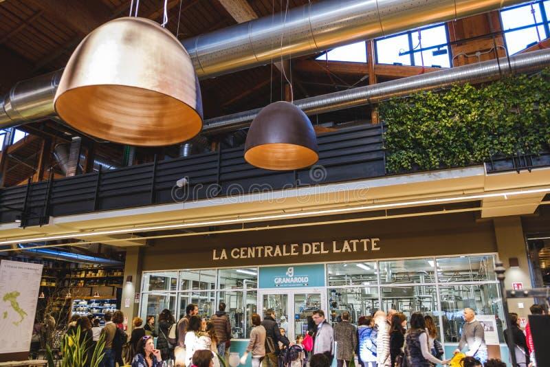 Bologna Italie du monde de Fico Eataly de station d'usine de lait photographie stock