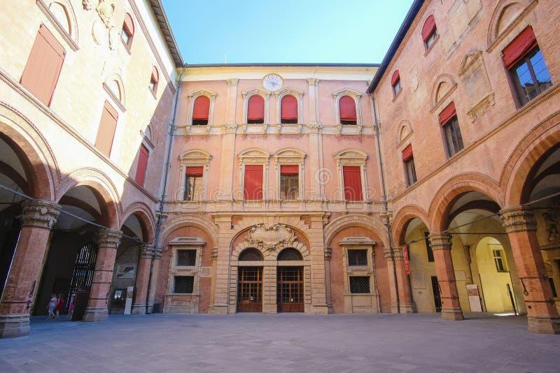 Palace yard in a center of Bologna stock photos