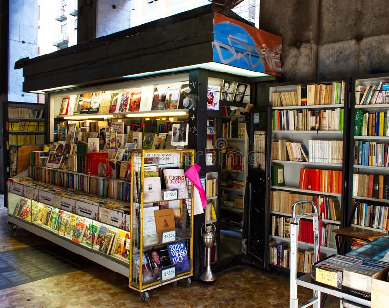 Bologna / Italy - September 22, 2019: The last second hand books in the centre of Bologna, Italy. royalty free stock images