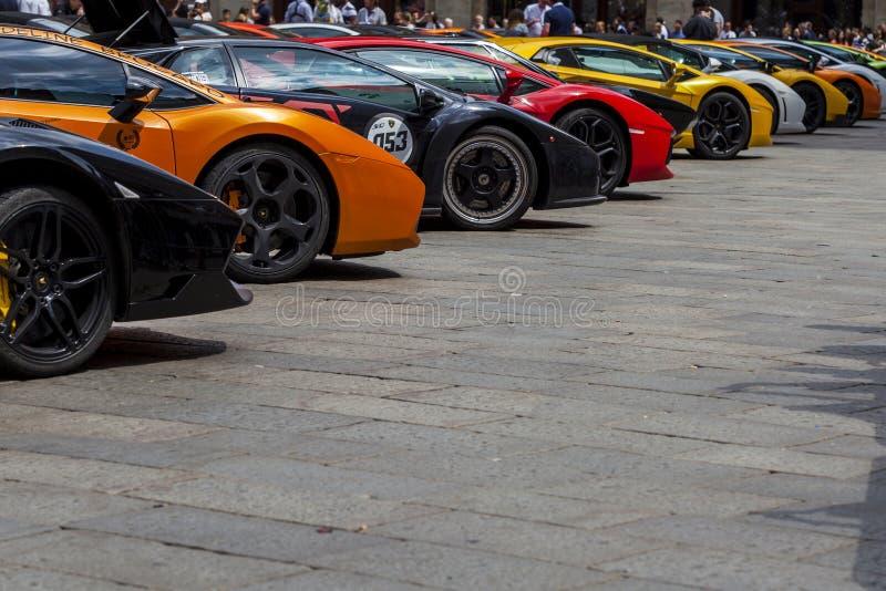 Bologna, Lamborghini anniversary 50th royalty free stock images