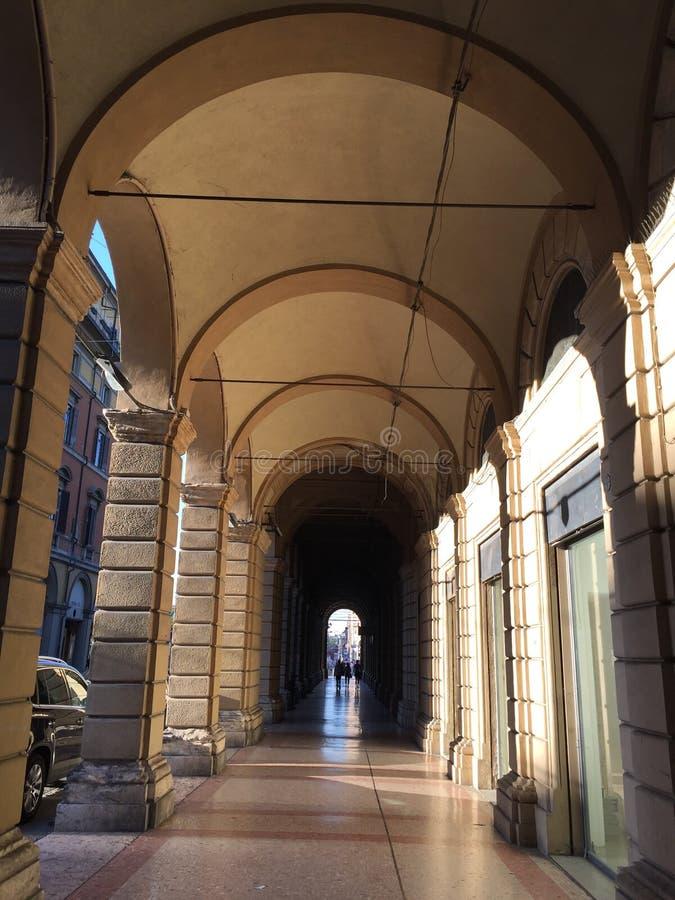 Bologna miasta Włochy ulica zdjęcie royalty free