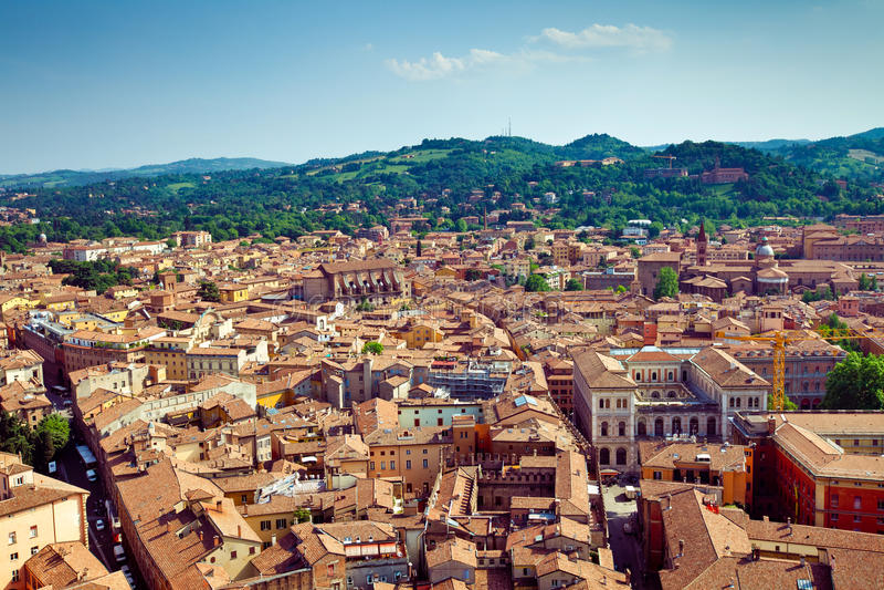 Bologna miasta widok obraz royalty free