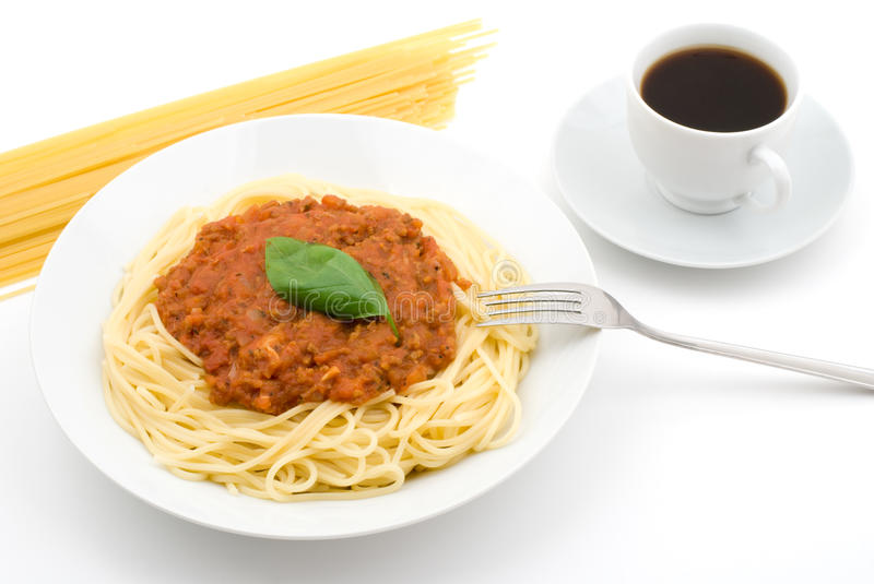 Bologna-style Spaghetti royalty free stock photography