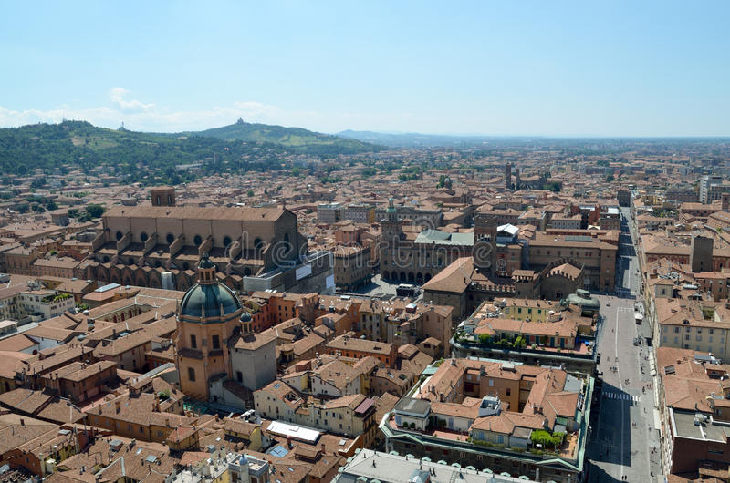 Bologna. View of the city of Bologna from Asinelli tower royalty free stock photography