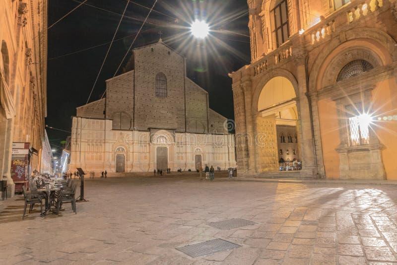 BOLOGNA WŁOCHY, Kwiecień, -, 2019: Bazylika San Petronio, Bologna, Emilia Romagna, północny Włochy fotografia royalty free