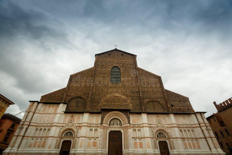 Bologna, W?ochy bazylika Di Petronio San zdjęcie stock