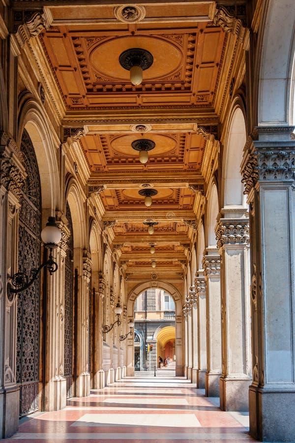 Bolognagallerier. Italien royaltyfria foton