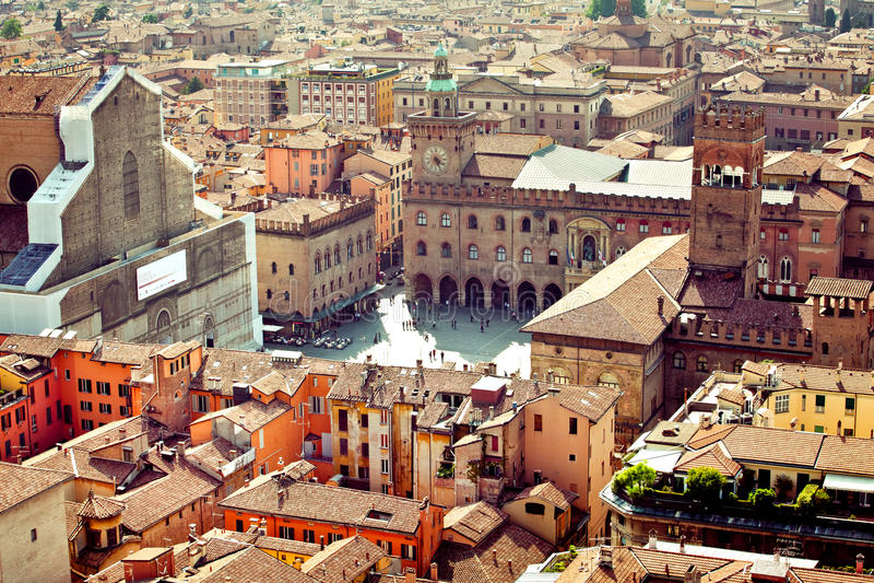 Bolognastadtansicht, Italien lizenzfreie stockfotografie