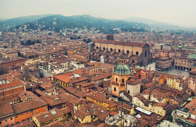Bolognastadtbild stockbild