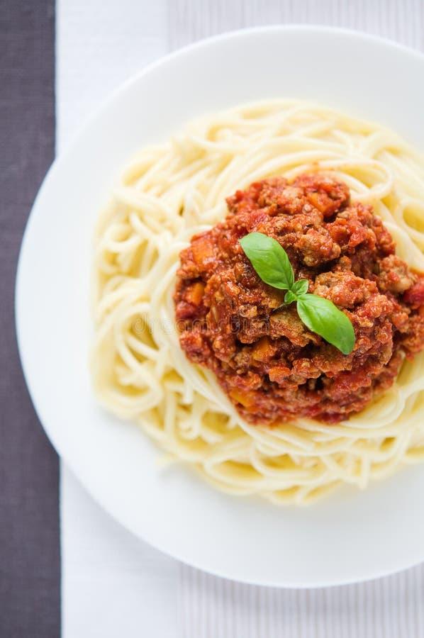Bolognes de los espaguetis foto de archivo libre de regalías