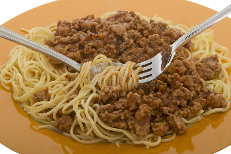 bolognese спагетти стоковые фотографии rf