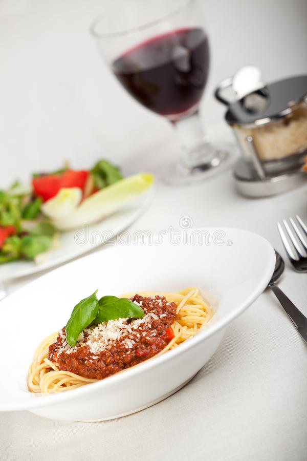 Download Bolognese stock photo. Image of noodle, basil, bolognese - 14626622