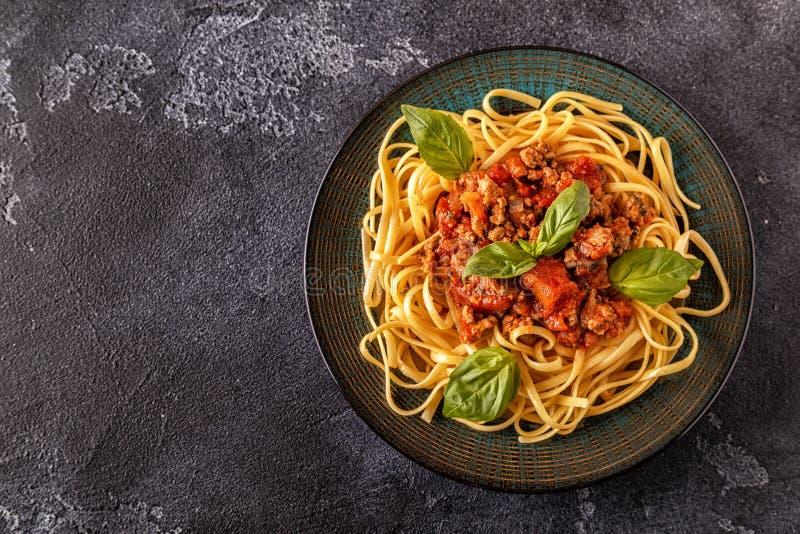 bolognese italiensk pasta arkivfoto