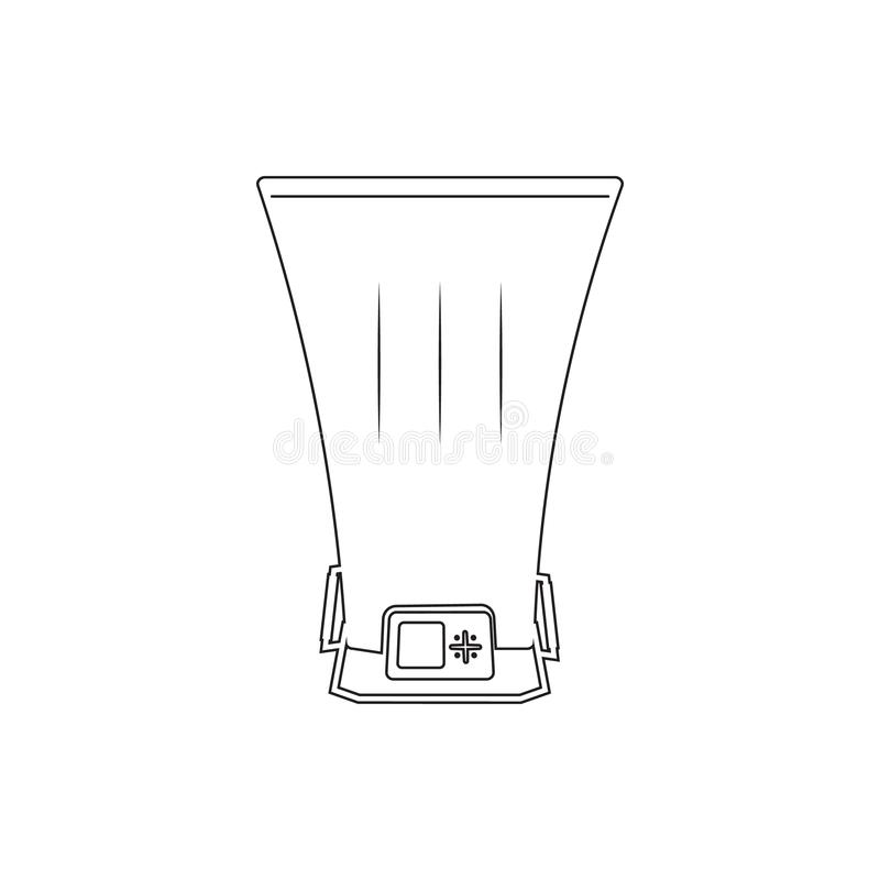 Bolometer icon. Element of measuring elements for mobile concept and web apps icon. Thin line icon for website design and. Development, app development on white vector illustration