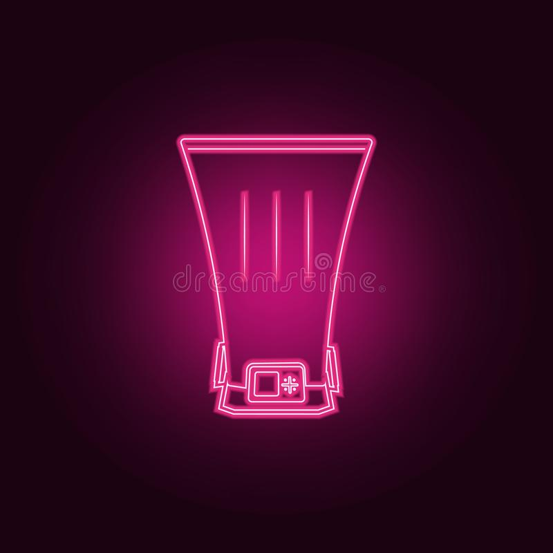 Bolometer icon. Elements of measuring elements in neon style icons. Simple icon for websites, web design, mobile app, info. Graphics on dark gradient background stock illustration