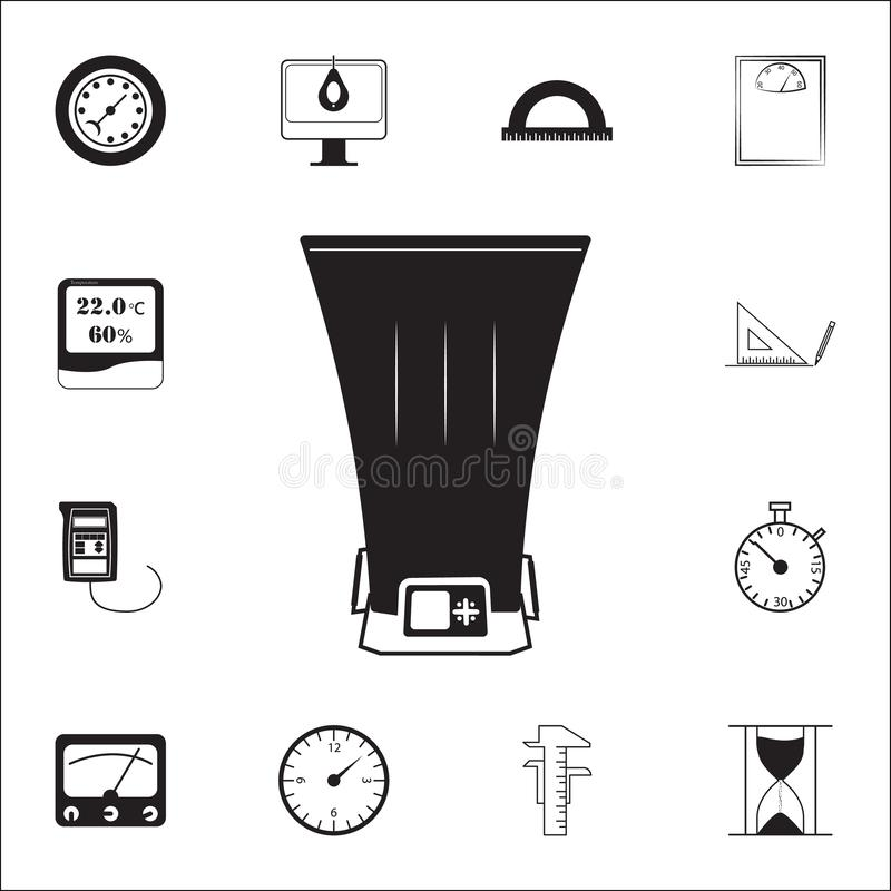 Bolometericon. measuring elements icons universal set for web and mobile. On white background royalty free illustration