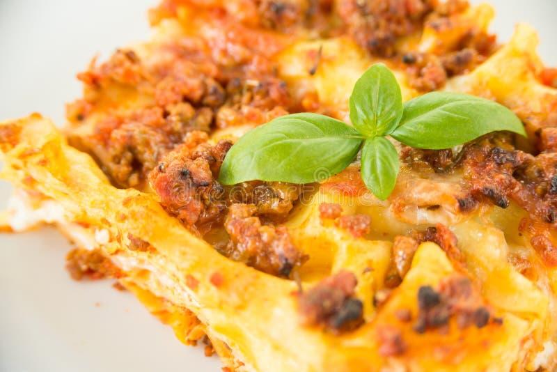 Bolonais d'alla de lasagne, nourriture italienne images libres de droits