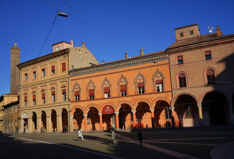Bolonha do isolani do corte de Palazzo foto de stock