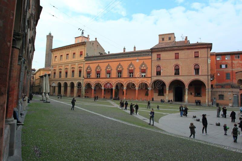 Bolonia - plaza Santo Stefano fotografía de archivo