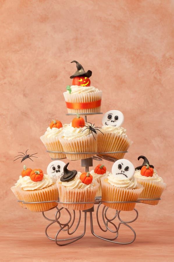 Bolos assustadores de Halloween fotografia de stock