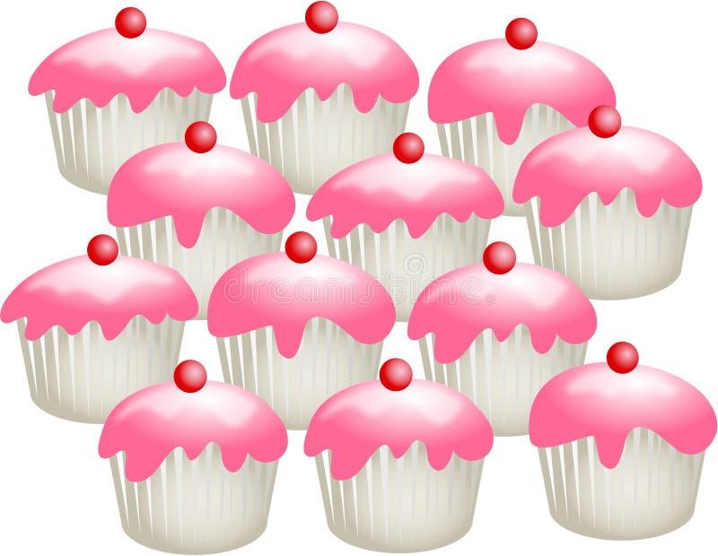 Download Bolos da cereja ilustração stock. Ilustração de cozido, confectionery - 60528