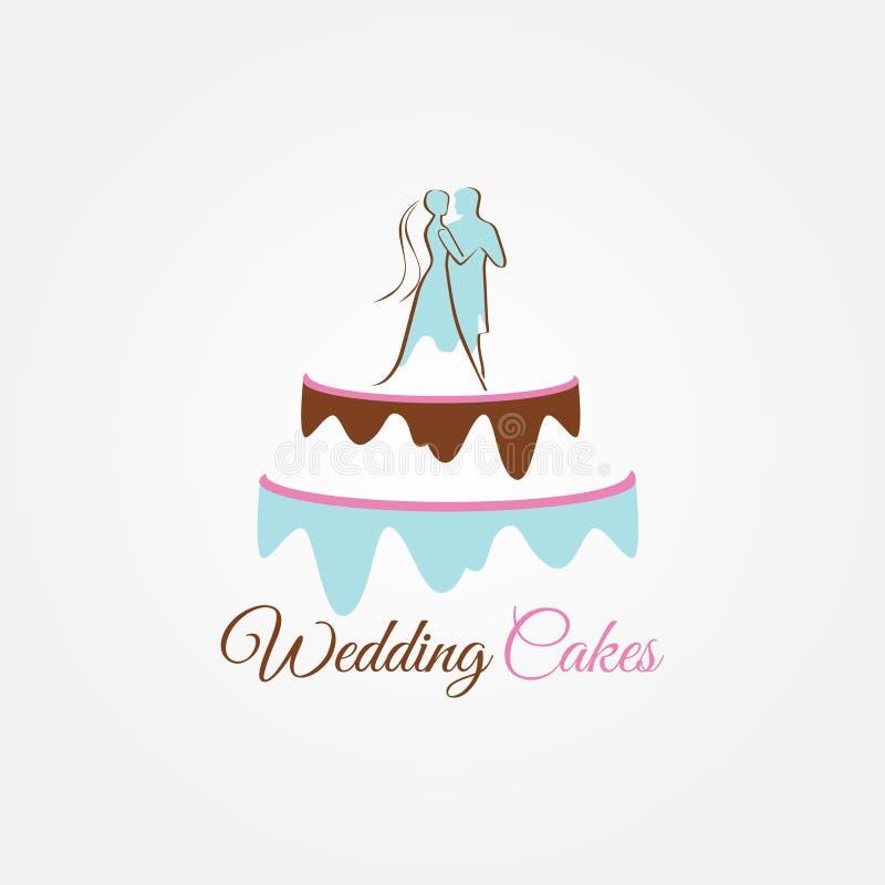 Bolos de casamento Logo Sign Symbol Icon imagem de stock
