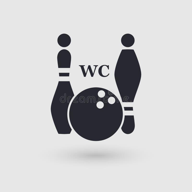 Bolos del icono WC público de la conveniencia Indicador del pictograma stock de ilustración
