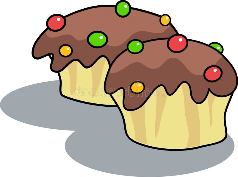 Download Bolos do chocolate ilustração do vetor. Ilustração de alimento - 50619