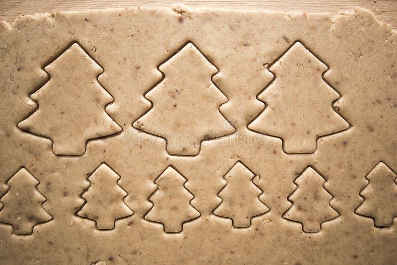 Bolos do pão-de-espécie do Natal do ano novo imagens de stock