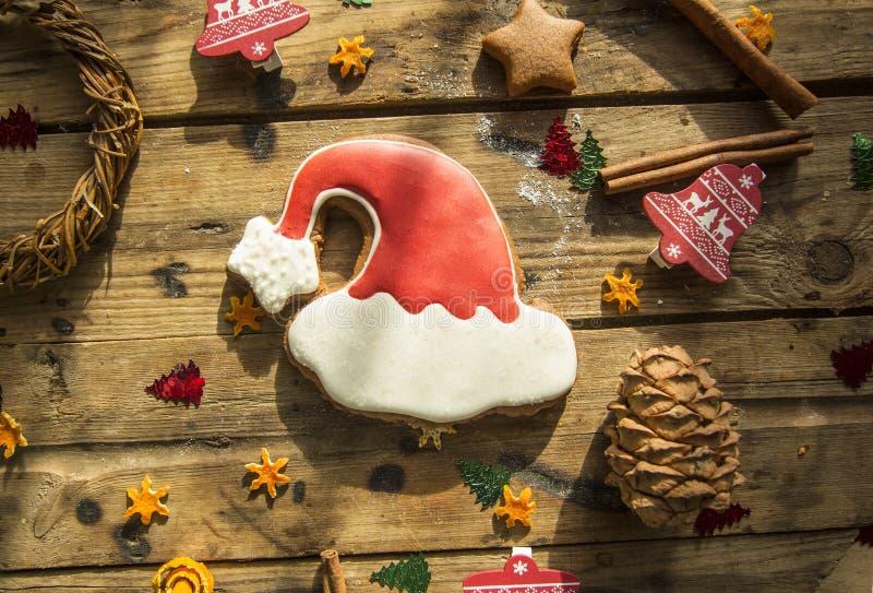 Bolos do pão-de-espécie do Natal do ano novo imagem de stock