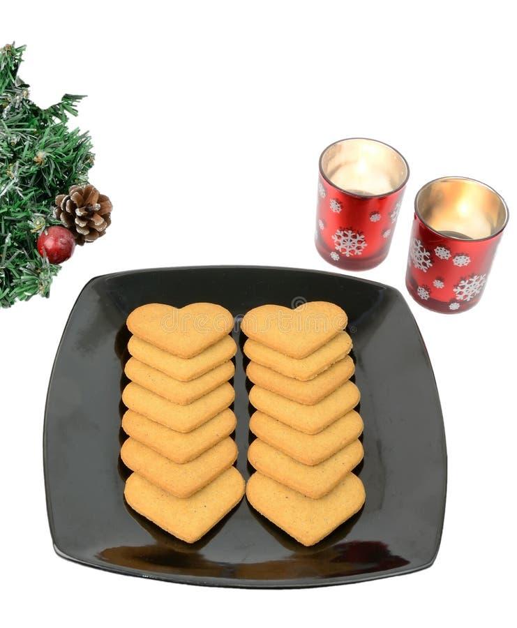 Bolos picantes com decoração do Natal imagem de stock