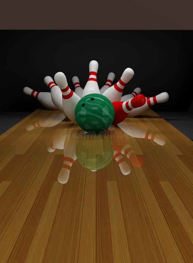 Bolos Quebrados En El Bowling Fotos de archivo libres de regalías