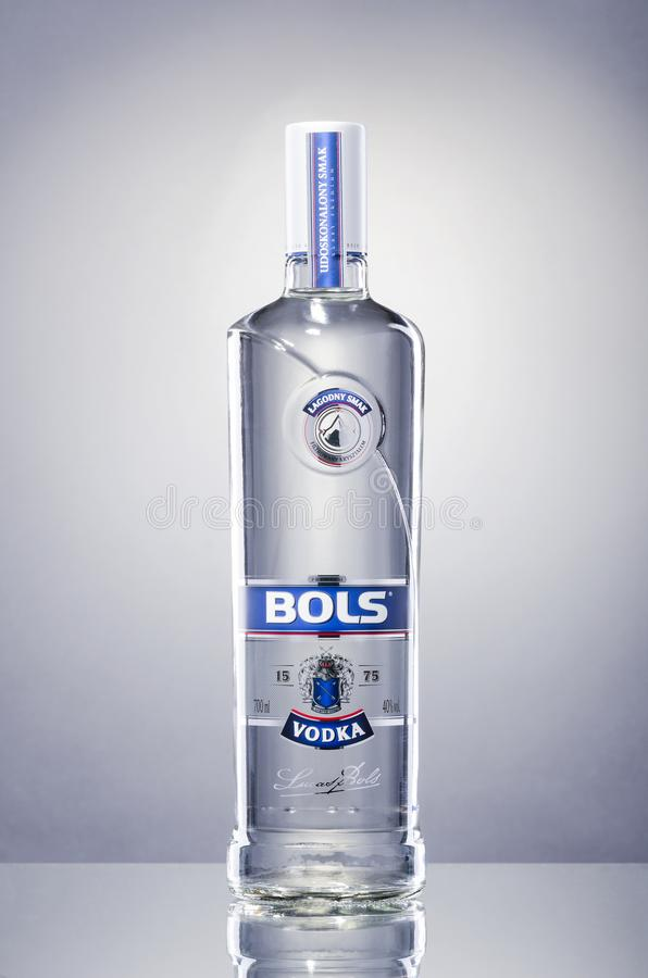 Bols vodka som isoleras på lutningbakgrund royaltyfri foto