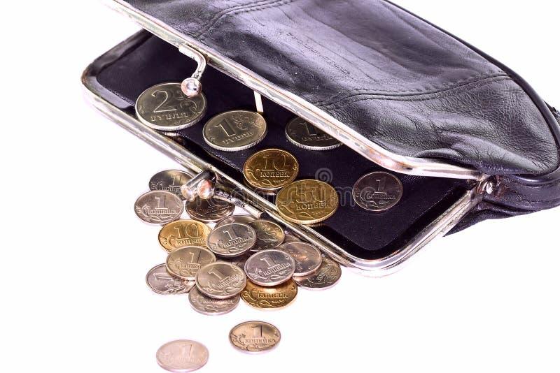 Bolsa com moedas foto de stock royalty free