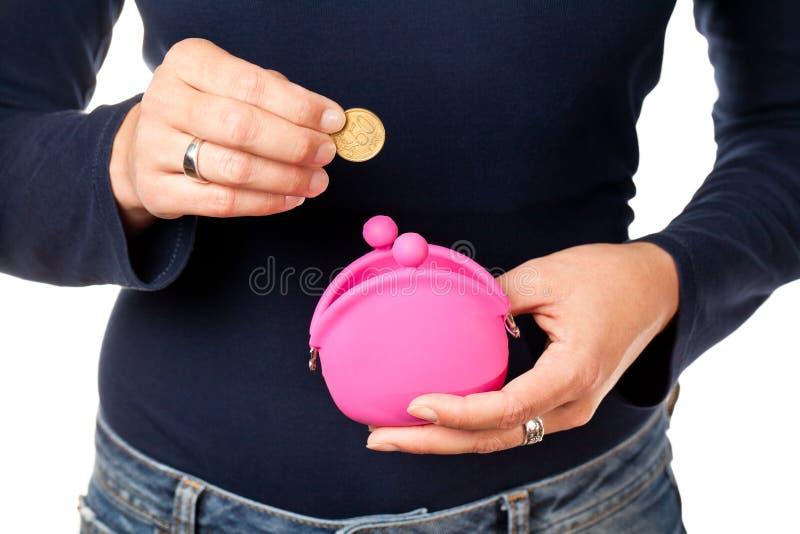 Bolsa Cor-de-rosa. Fotografia de Stock